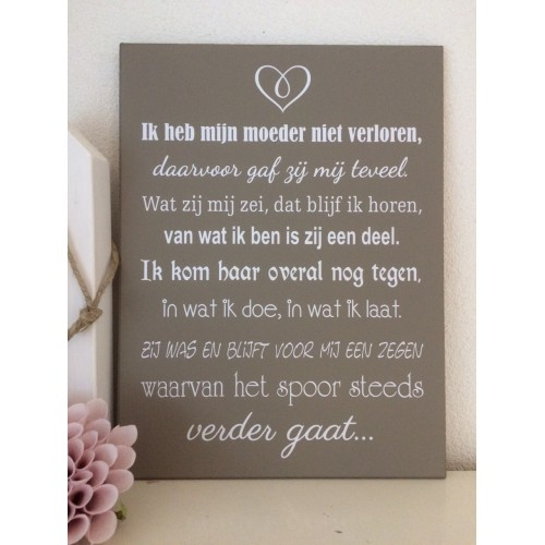 Genoeg Tekst Bij Overlijden Moeder FI34 | Belbin.Info YE-63